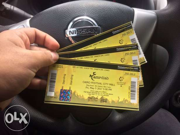 3 tickets for amr diab concert