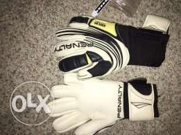 Glove goalkeeper peanalty white and black sale on them