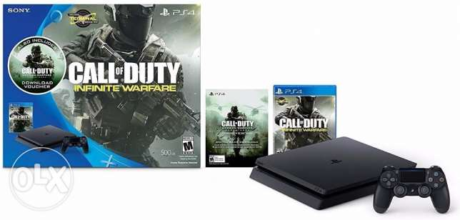PlayStation 4 Slim 500GB Console - Call of Duty: Infinite Warfare Lega
