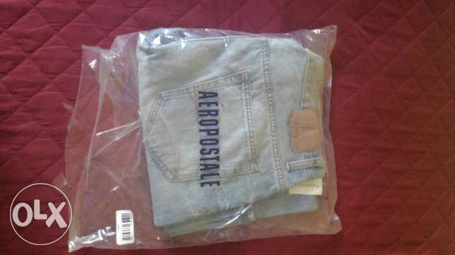 Aeropostale Mens Light Blue Jeans Boot Cut New 36x30 from USA