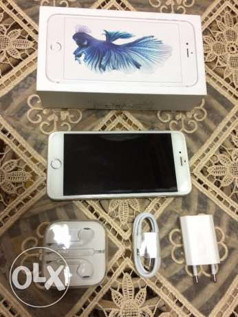 iphone 6S PLUS ( 64 GB ) silver for sale like new