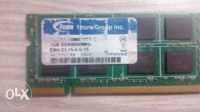 رامة لابتوب 2جيجا Laptop Memory 2G DDR2 السعر نهائى