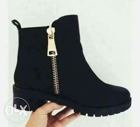 بوط اسود ankle boot الإسكندرية -  1