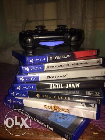 PS4 500GB with box and 7 games CD مدينة نصر -  4