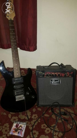 New Electric guitar Yamaha + amplifier Cort + 3 gifts