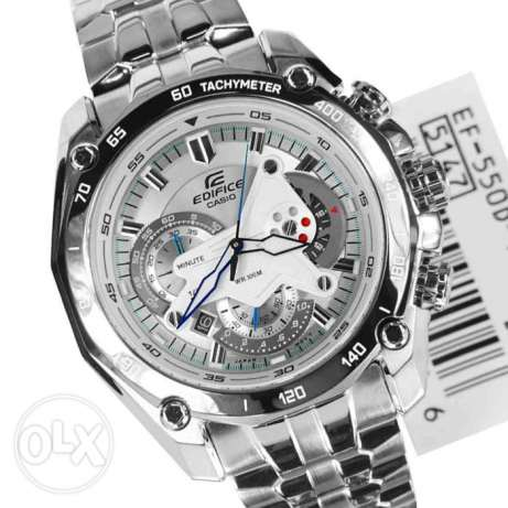 White Face Casio Men Watch