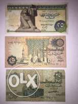 old Egyptian bank notes
