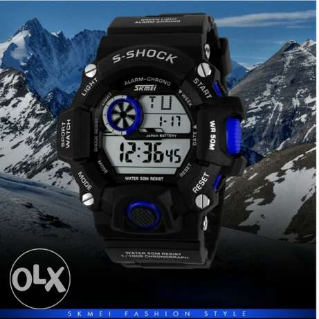 SKMEI Brand Men Military Watch LED Digital Watch 50 Waterproof Quartz العين السخنة -  2