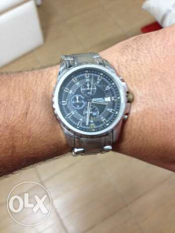 Fossil all stainless steel/ 330 feet water resistant made in us الدقى  -  4
