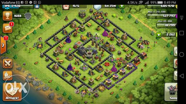 Clash of clans lvl 9 account