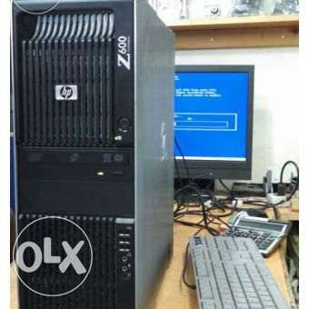 HP z600 Workstation 2*6 Core, 24G Ram بالسعر القديم