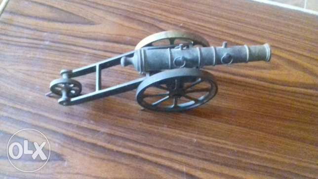 A souvenir cannon from the army