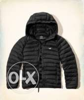 Hollister blue lightweight puffer jacket