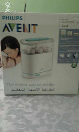 New Philips Avent-electric steam sterilizer-معقم فيليبس جديد 3×1.