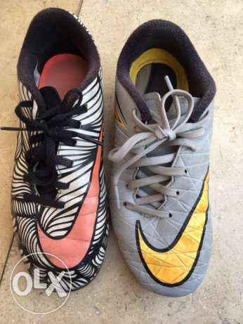 2 soccer cleats