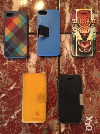 10 Covers for Iphone 5 / 5S / SE ١٠ جربات لايفون