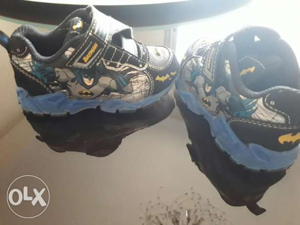 Batman shoes with light at sides and top excellent condition size 24