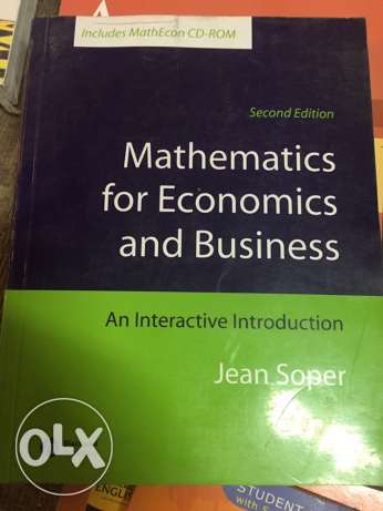 Jean Soper Mathematics for Economics and Business: An Interactive Intr