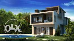 Standalone Villa 2nd Row Golf Course, For Sale, Located in New Giza.