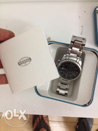 Fossil all stainless steel/ 330 feet water resistant made in us الدقى  -  3