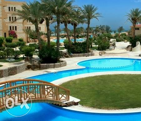 Apartment for rent in Compound with private beach.