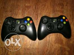 Xbox 360 2 controllers for sale