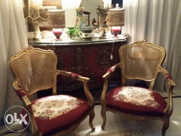 2 new aubusson english gold chairs very soft oiyma both for 5800