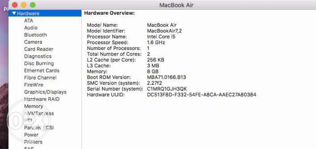 MacBook Air early 2016