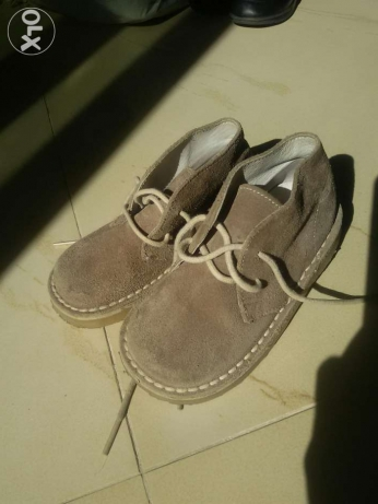 Back skin leather shoes size 24