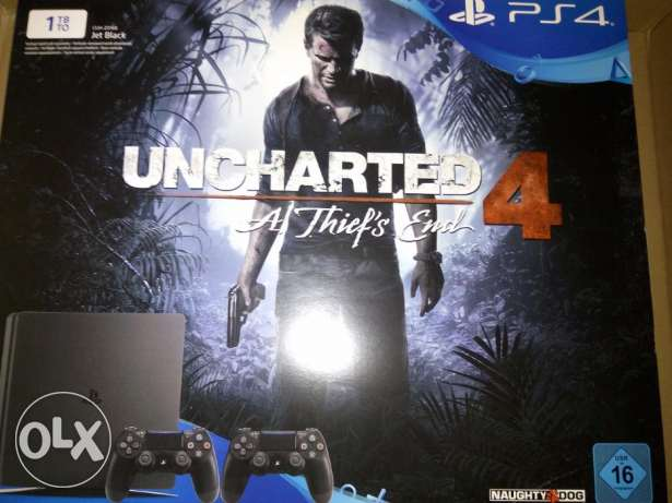 ps 4 slim with uncharted 4 and controller مدينة نصر -  1