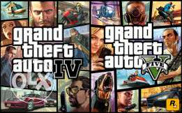 Gta V + Gta IV pc Games DVD