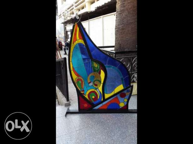 art work , stained glass partition