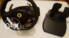 Original Xbox steering and pedals from Ferrari world