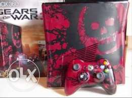 Xbox 360 Gears of War 3 Limited Edition 250 GB KINECT معدل هارد وسي د