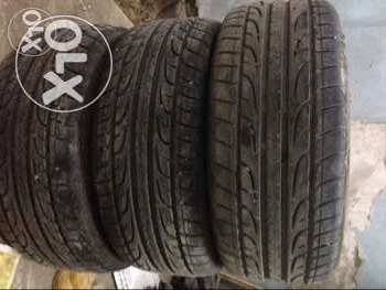 3 dunlop tires 215 / 45 / R16 used