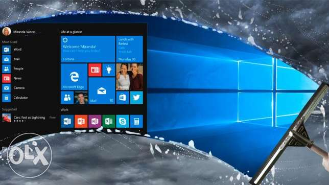 WINDOWS 10 RED STONE النسخين 32 و 64 full edition