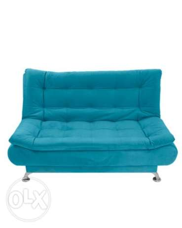 Art Home 3 Seaters Velvet Sofa Bed -Turquoise كنبه سرير
