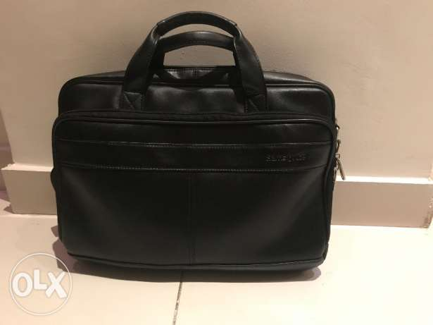 Samsonite Laptop Case - bag - Genuine leather - شنطه