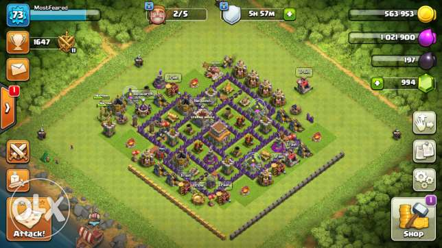 كلاش اوف كلانس تاون 8 Clash Of Clans