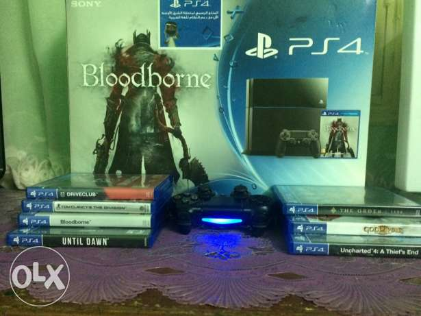 PS4 500GB with box and 7 games CD مدينة نصر -  2