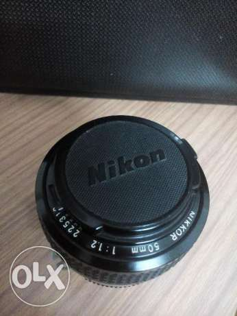 lens nikon nikor 50mm f 1.2 ai manual focus .. عدسة نيكون