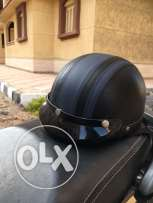 motorbike helmet leather mint condition