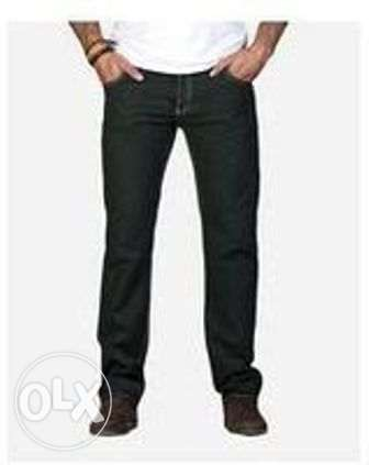 للبيع بنطلون Dockland Olive Color Straight Trousers Pant For Men الزيتون -  2