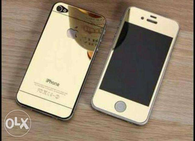 iphone 4s + gold screen