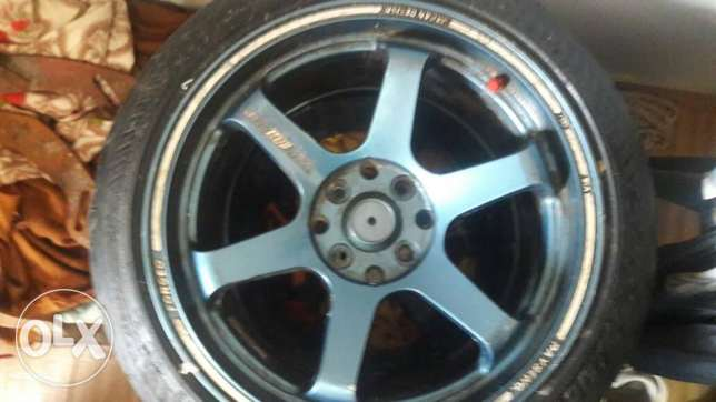 جنط بالكاوتش Volk 16 rims double inch
