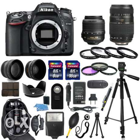 Nikon D7100 Bundle with 18-55mm and 55-30 and 35mm
