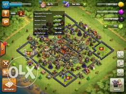 Clash of clans +boom beach + clash royale + hay day + king of thieves