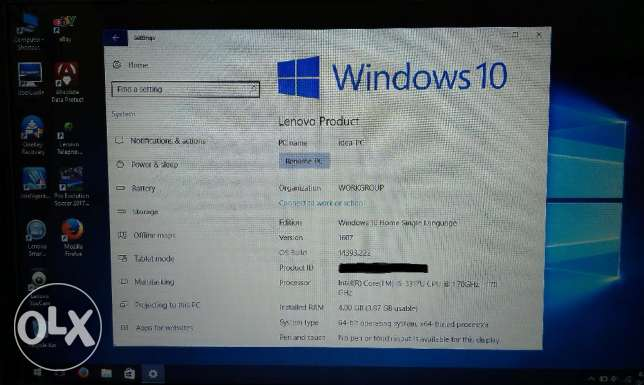 لابتوب Lenovo IdeaPad Core-i5 Windows 10 (Like new) وسط القاهرة -  5