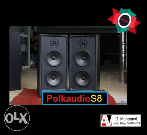 Polk Audios Model S8High quality stereo & home theater Hand made