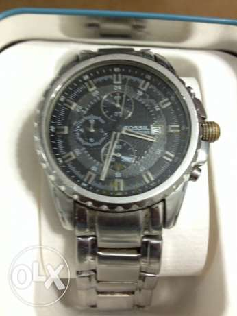 Fossil all stainless steel/ 330 feet water resistant made in us الدقى  -  1